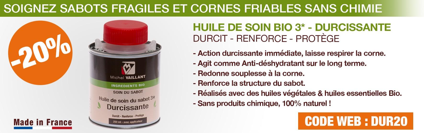Durcissant - huile - sabot - fragile - friable - durcir - sabots - pied - cheval - soin