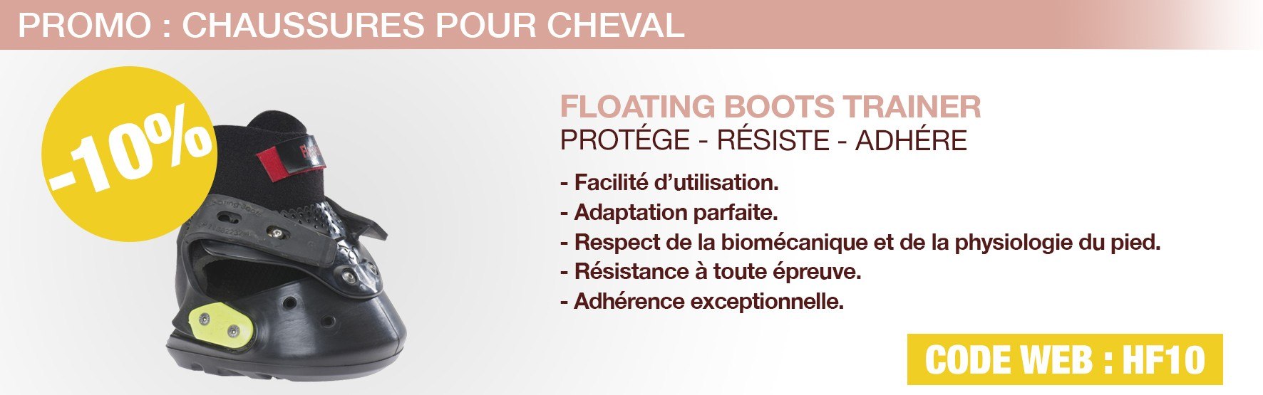 hipposandale - chaussons - pied - sabot - cheval - equitation - Floating - Boots - soin