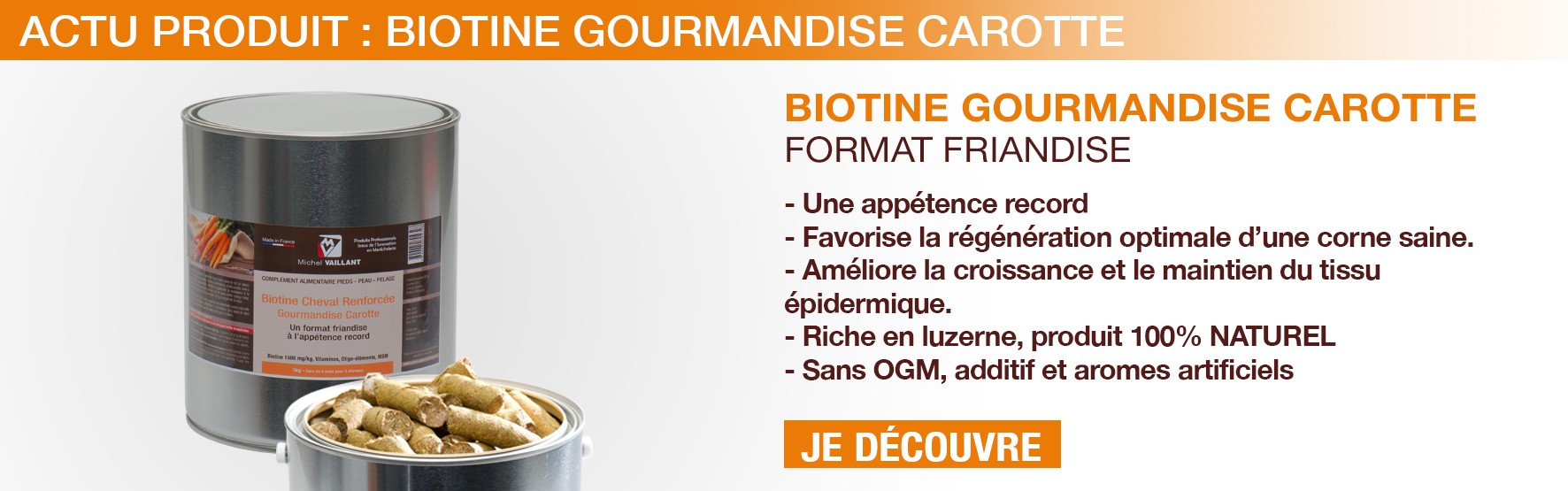 Biotine - soin - carotte - cheval - Friandise - Gourmandise - appétence - sabot